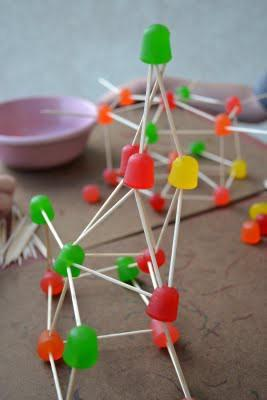 toothpicks and dots
