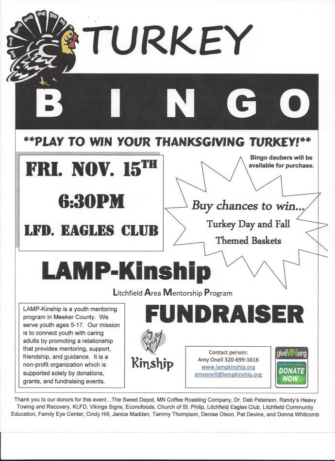 2 Scanned Turkey bingo poster