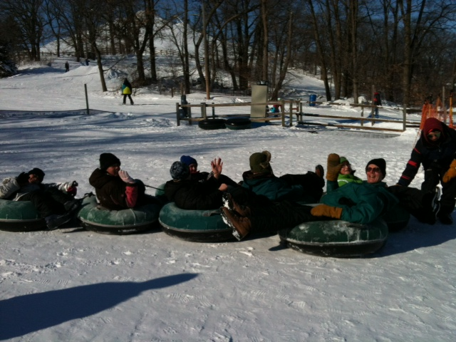 snow tubing train