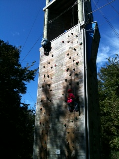 aniya to the top and carly climbing